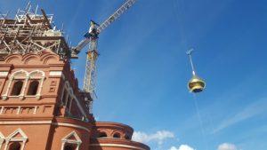 20 сентября первый «куполочек» засиял на кровле Троицкого собора