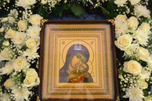 Престольный праздник на скиту Свято-Троице-Параскевиевского Топловского женского монастыря в честь Корсунской иконы Божией Матери на Сапун-горе